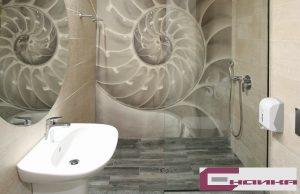 лепене на фототапет в баня